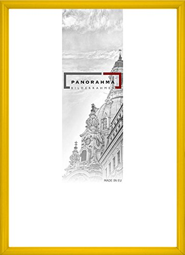 Kunststoff Bilderrahmen, Bildformat: 42 x 59,4 cm (DIN A2), Gelb, Echtglas