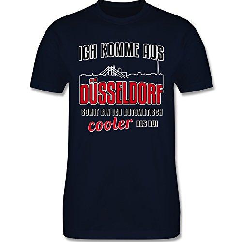 Städte - Ich komme aus Düsseldorf - Herren Premium T-Shirt Navy Blau