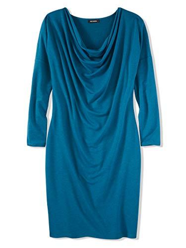 525 America Damen-Kleid aus Frottee, mit Rundhalsausschnitt - Grün - Mittel Soft Cowl Neck