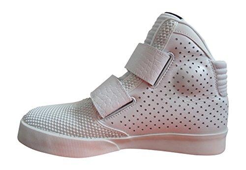 Nike Flystepper 2k3 Prm, espadrilles de basket-ball homme Multicolore - Varios colores (Plateado / Rojo (Pure Platinum / University Red))