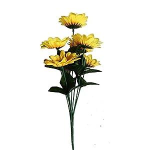 Chytaii Artificial Flores Falsas Decoración del Hogar Ramo de Flores Artificiales Día del Maestro Boda/Hogar/Oficina/Fiesta Decoración de Flor Falsa de Girasol
