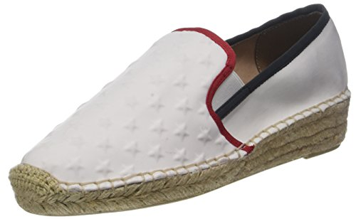 Tommy Hilfiger Damen Corporate Slip ON Espadrilles, Weiß (RWB 020), 38 EU