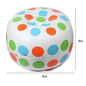 QI-shanping Polka Dot aufblasbares Kindersofa & amp; Tabellen-Satz, Wohnzimmer-aufblasbarer Sofa-Stuhl sprengen Möbel Seat mit Osmanen auf (Color : B)