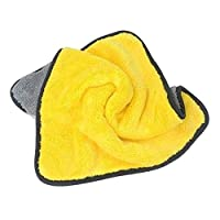 N.F.M.E Microfiber Cleaning Cloths, 30x60cm, Large Car Detailing Towel, Lint Free Dual Layer, Absorbent Silk Edging, Car Wash Waxing Polishing Drying Towel