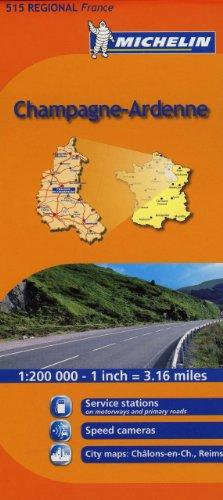 Champagne-Ardenne Michelin Regional Map (Michelin Regional Maps)