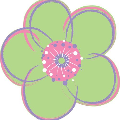 Brewster WPF93731 Wall Pops Poppie Removable Wall Art, Green Flower