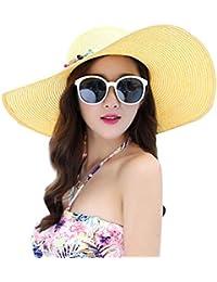 Screenes Sombrero Flojo Sombrero Sombrero De Verano Mujer para De Paja  Estilo Simple De ala Ancha bf3ac3dd008