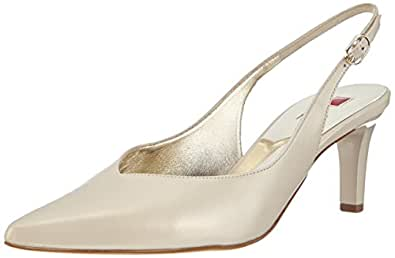 Högl Womens 9-106103-0900 Slingback court shoes Ivory Elfenbein (0900) Size: 8