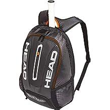 Head Tour Team - Mochila para Raqueta de Tenis, Color Negro/Plata, tamaño