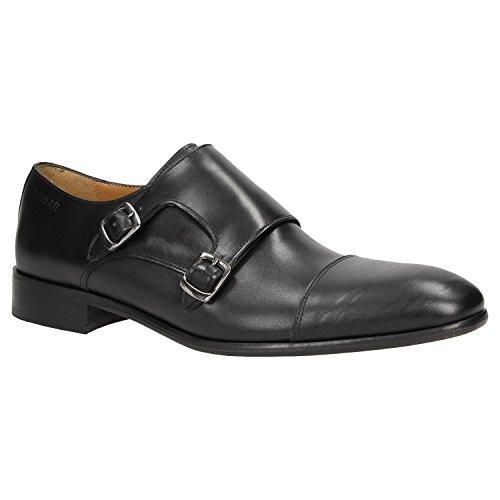 Herren Designer Smoking (Zweigut Hamburg- Smuck #257 Schuhe Monkstrap Herren Double Monk-Strap Leder Schuh Business Shoe Slipper, Schuhgröße:41, Farbe:Schwarz)