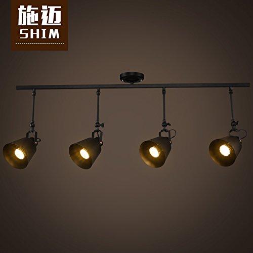 XMZ Kronleuchter hängende Licht Deckenleuchten für Flur, Schlafzimmer, Küche, Kinderzimmer, industrielle Beleuchtung-9 Typ W 4 - 4 Licht Kronleuchter Flur