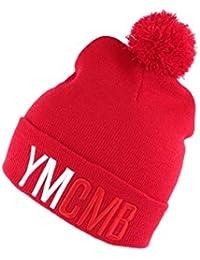 Bonnet Ymcmb Rouge avec Pompon - Mixte