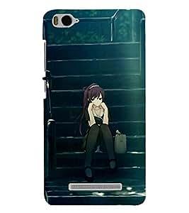 PRINTSHOPPII ALONE GIRL Back Case Cover for Xiaomi Redmi MI 4C::Xiaomi Mi 4C