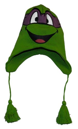 Bioworld Teenage Mutant Ninja Turtle Donatello Lappland-Beanie mit Gesicht (Turtles Mutant Ninja Violett Teenage)