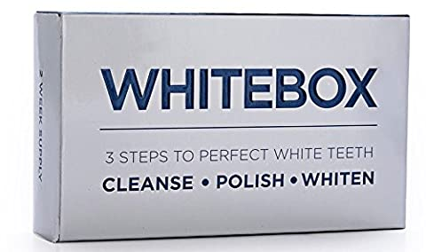 WHITEBOX Professional Advanced Teeth Whitening White Strips and Kit (28 Pouches/56 Strips (1 month
