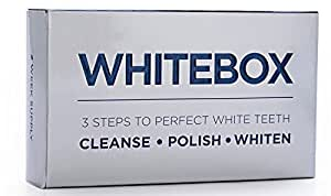 WHITEBOX Professional Advanced Teeth Whitening Strips Made by UK based dentists - the only teeth whitening kit you should be using, contains teeth cleaning tools