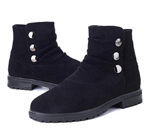WZGDie neue Mode für Männer Casual Schuhe high-top Spitze Stiefel Veloursleder fußabnutzung Herrenschuhe Schnalle Black
