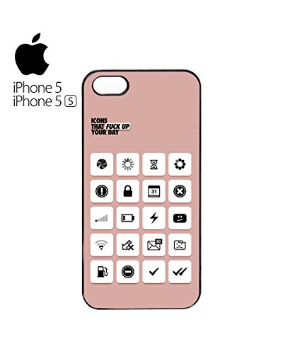 Icons That F*ck Up Your Day Phone Computer Icon Mobile Phone Case Cover iPhone 6 Plus + Black Blanc