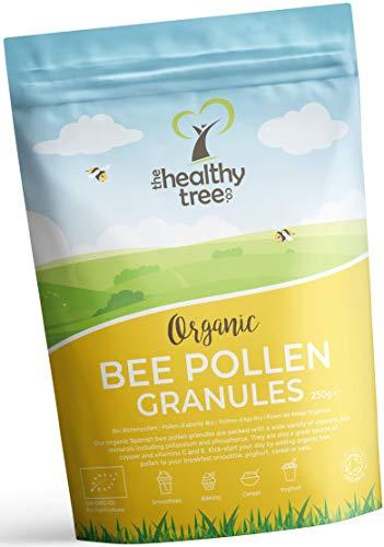 Bio Blütenpollen (Herkunft: Spanien) - Hoch in den Vitaminen C, B1, B2, B3, Eisen, Zink und Magnesium - Höchste Qualität reines Bienenpollen-Granulat von TheHealthyTree Company (Griechischer Reiner Honig)