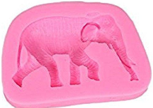 JUNGEN Moule en Silicone Cuisson Pâtissière au Four Moule à Gâteau Forme de Éléphant Antidérapant Très Résistant Rose 1pcs