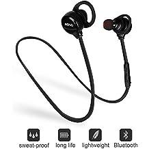 AOSO M21 auricolare Bluetooth V4.1 magnetico senza fili ad alta fedeltà stereo per cuffie auricolari di sport che funziona con batteria ai polimeri a 120mAh / 450h in standby & Built-in microfono per iPhone 7 Samsung Galaxy Android (nero)