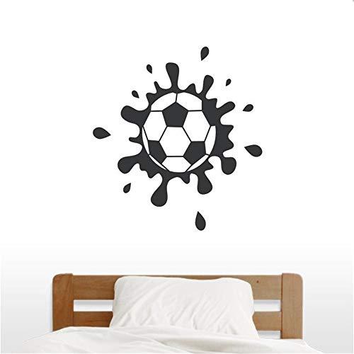 Heißer Verkauf Schlammigen Fußball Wandkunst Aufkleber Schlafzimmer Dekoration Vinyl Wandaufkleber fußball Wasserdicht Aufkleber Wandbild rot 56x56 cm -