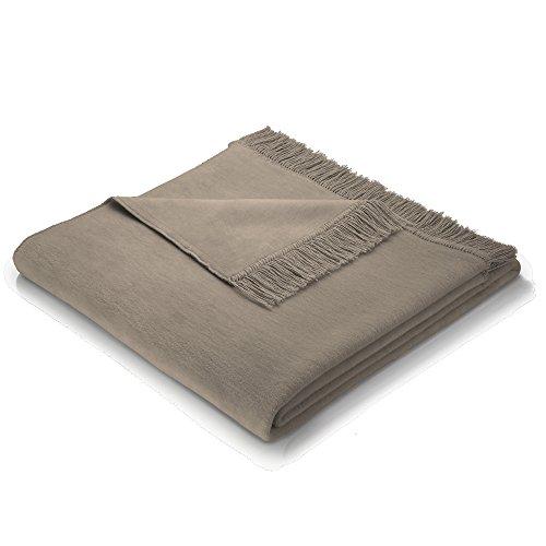 Biederlack Wohndecke/Sofa-Überwurf, 60% Baumwolle, Mit Fransen, 100 x 200 cm, Braun, Cotton Cover...