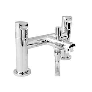 deva iko106 ikon robinet de baignoire avec pommeau de douche finition chrom e bricolage. Black Bedroom Furniture Sets. Home Design Ideas