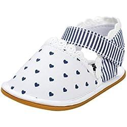 pattini di bambino Koly_Neonata Sandali pattini casuali della scarpa da tennis antiscivolo morbida suola di scarpa (Age:6~12 Month, White)