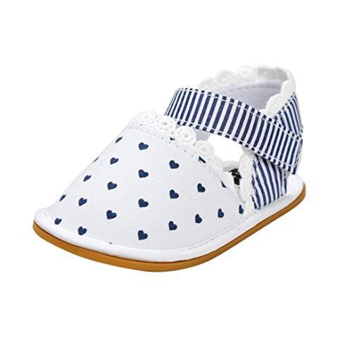 pattini di bambino Koly_Neonata Sandali pattini casuali della scarpa da tennis antiscivolo morbida suola di scarpa (Age:12~18 Month, White)