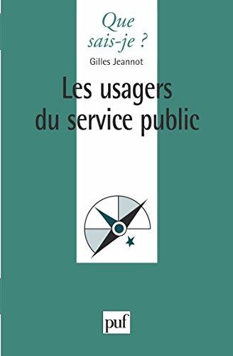 Les usagers du Service Public