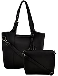 Mark & Keith Women BLACK Handbag(MBG 0515 BLACK)