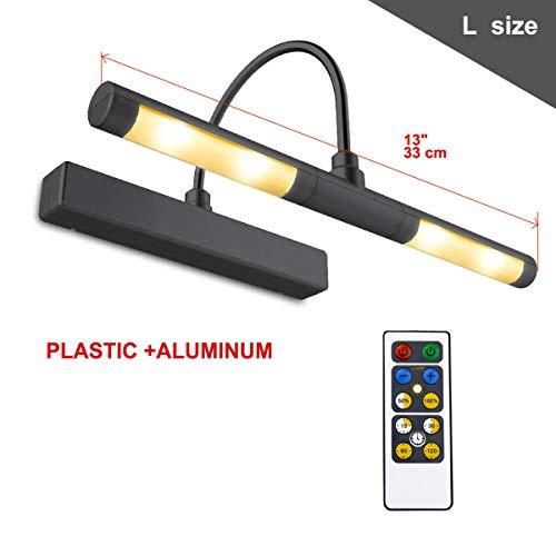 HONWELL Bilderleuchte LED Verstellbare LED Wandleuchte für Spiegel AA Batterie Betriebene mit Fernbedienungen 180° Schwenkarm