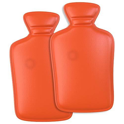 WARMFREUND© Premium Handwärmer [2er Set] Wärmflasche - Verbessertes Konzept 2019 - Langanhaltende Wärme für kalte Hände | Taschenwärmer für unterwegs | wiederverwendbar