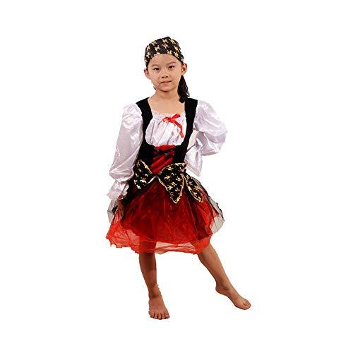 Jian E& Karibische Frauen Piratenkostüm der europäischen und amerikanischen klassischen Art Cosplay Halloween-Karnevalsparty-Kostüm (Farbe : A, größe : ()