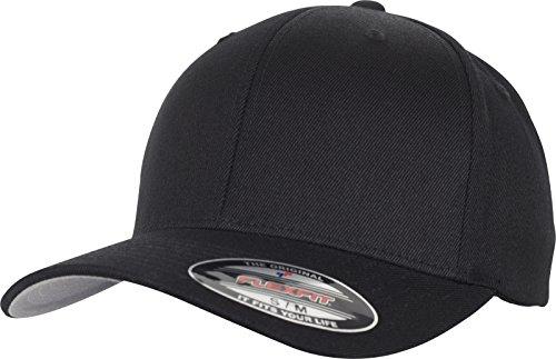 Flexfit Wool Blend Cap, Black, L/XL Black Wool Cap