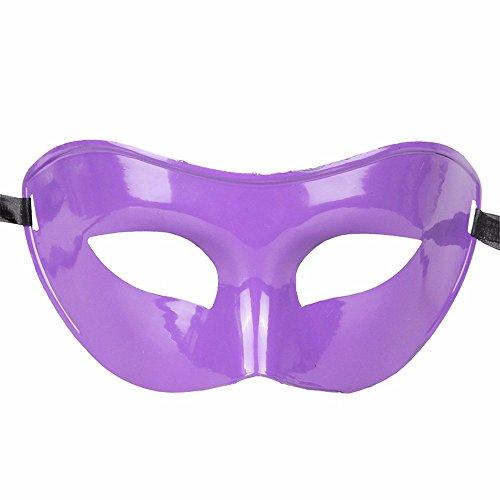 Gesichtsschutz Domino falsche Front Halloween Kostüm Tanz Maske Halbes Gesicht Tanz Maske Flache Maske männliche Maske Weiblich Lila ()