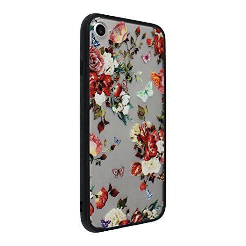 3 PCS iPhone 7 2 in 1 Hybrid Tasche, iPhone 7 Hülle Silikon, iPhone 7 Case Silikon, iPhone 7 Backcase, Moon mood® Soft TPU + Hart PC Case [ 2 in 1] Relief Handyhülle Schutzhülle Case für Apple iPhone  Stil - 9