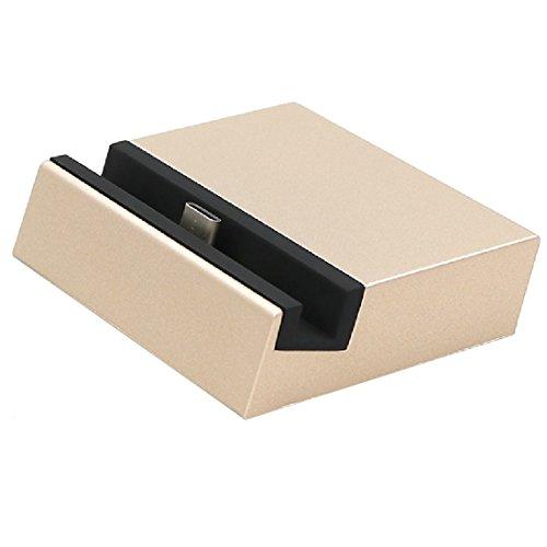 TheSmartGuard | USB-C Dockingstation | Dock | Ladestation mit USB-Typ-C-Anschluss | Farbe: Gold