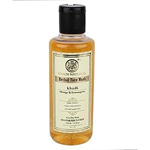 Khadi Natural Orange and Lemongrass Face Wash, 210ml