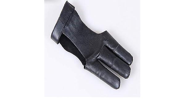 Fait A la main de 3 doigt Gant de tir A l/'arc fleche Gant en cuir SC