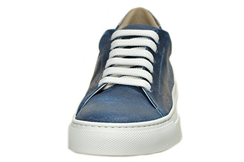 BERDINI , Baskets pour femme Bleu - crosta blu, acciaio, suola bianca