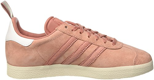 adidas Gazelle, Pompes à plateforme plate femme Rose (Raw Pink /Raw Pink /Silver Metallic)