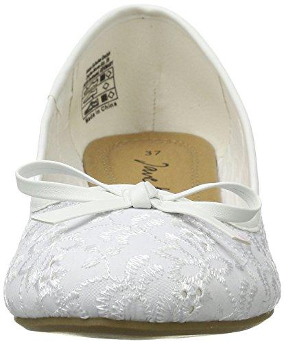 Jane Klain  221 807, Ballerines femme Weiß (WHITE)