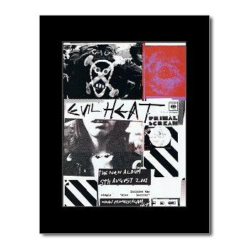 PRIMAL SCREAM - Evil Heat Matted Mini Poster - 28.5x21cm (Primal Evil Scream Heat)