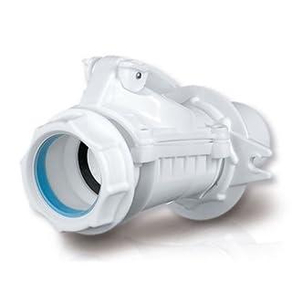 Rückstauverschluß Bad Küche 50 mm Abwasser Rohr Rückstau Abfluss Version B weiß