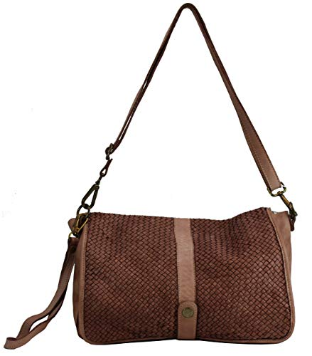 BZNA Berlin Bag Lola rose Italy Designer Clutch Umhängetasche Damen Handtasche Schultertasche Tasche Leder Shopper Neu