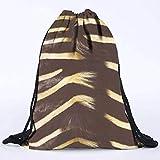 Kordelzug Taschen Unisex Zebra Fell 3D Druck Taschen Sport Tasche Kordelzug Rucksack Schultaschen...