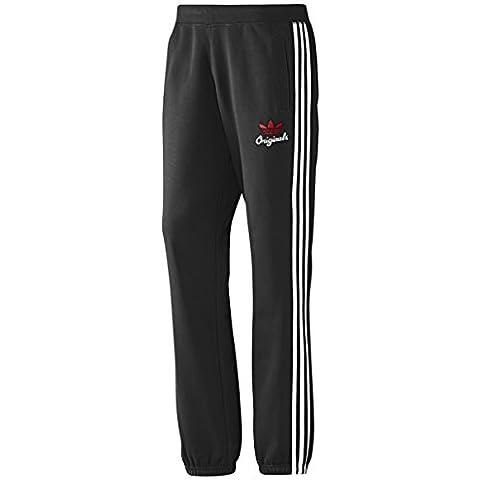 adidas Originals TPO Adidas Originals para hombre de entrenamiento (forro polar de deporte de chándal pantalones, hombre, negro,