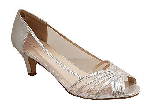 Miss Diva, Damen Standard & Latein, Silber - Silber - Größe: EU 41 (Silber Diva)